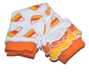 Candy Corn with Ankle Ruffle Leg Warmers - Dream Lily Designs