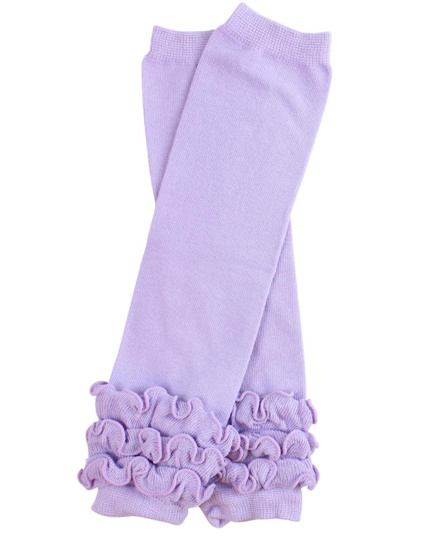 Light Purple Ankle Ruffle Leg Warmers - Dream Lily Designs