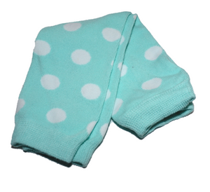 Light Blue and White Polka Dot Leg Warmers - Dream Lily Designs