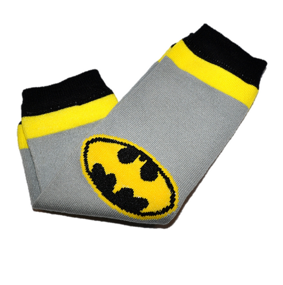 Batman Grey Yellow Black Leg Warmers