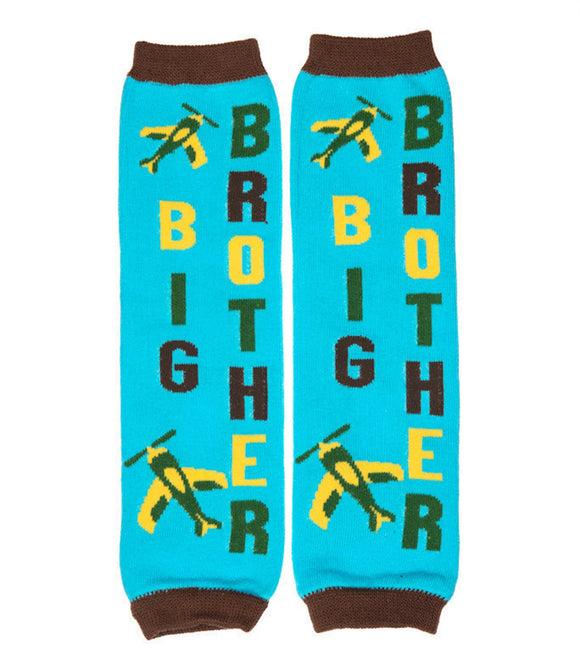 Big Brother Blue Airplane Leg Warmers