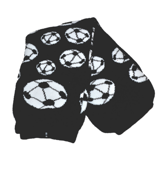 Black White Soccer Leg Warmers - Dream Lily Designs