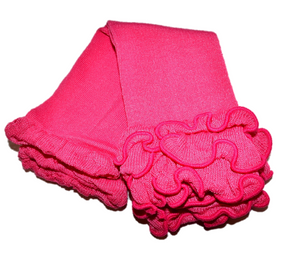 Hot Pink Rouched Bottom Leg Warmers - Dream Lily Designs
