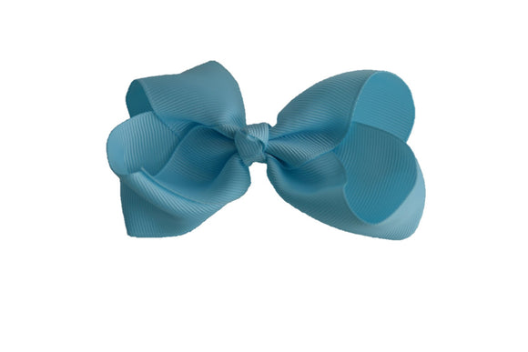 4 Inch Boutique Hair Bow Light Blue - Dream Lily Designs