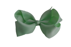 4 Inch Boutique Hair Bow Light Mint Green - Dream Lily Designs