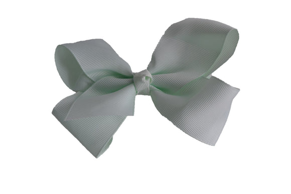 4 Inch Boutique Hair Bow Extra Light Mint Green - Dream Lily Designs