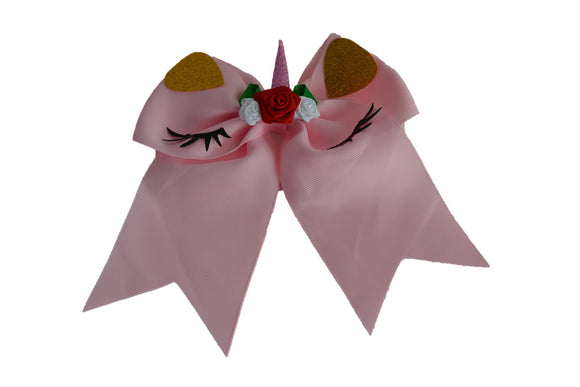 Glitter Light Pink Cone Large Unicorn Bow - Dream Lily Designs