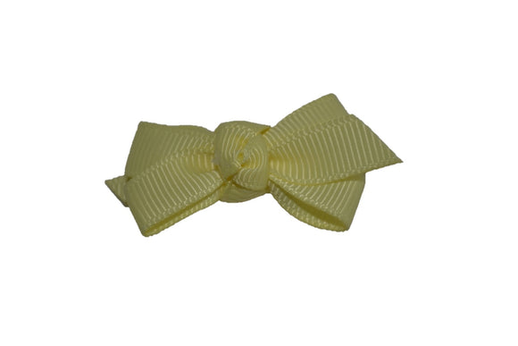 Knot Baby Snap Clip - Light Yellow - Dream Lily Designs