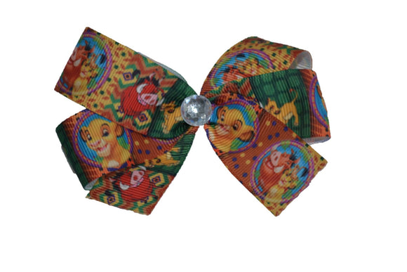 Lion King Timon Pumba Simba Bow (Disney) - Dream Lily Designs