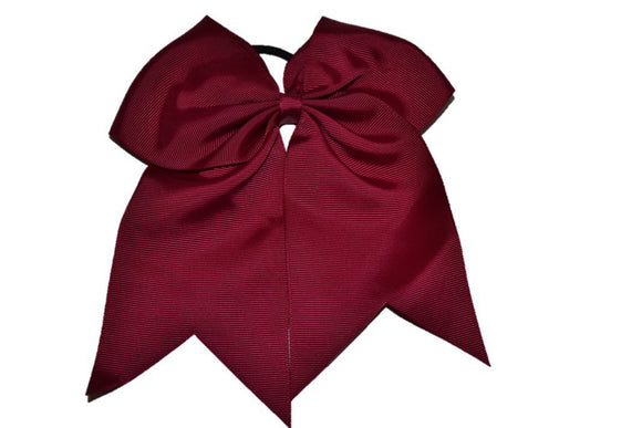 Maroon Cheer Bow - Dream Lily Designs