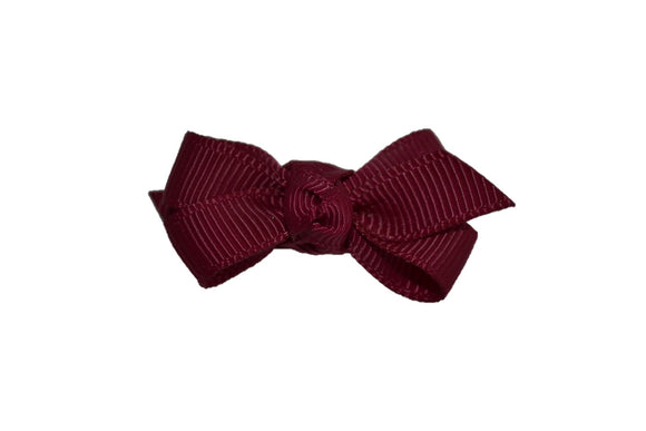 Knot Baby Snap Clip - Maroon - Dream Lily Designs