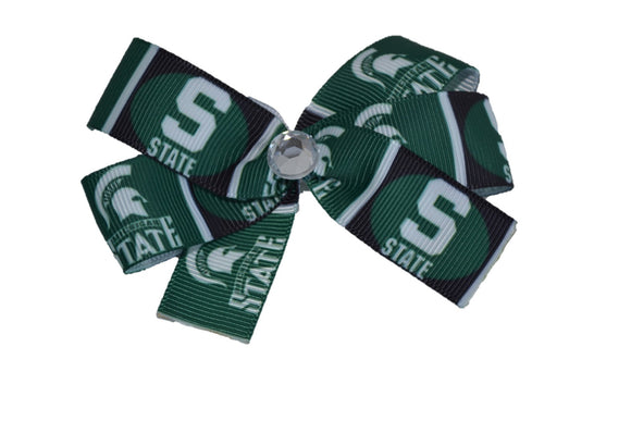 Michigan State Green Bow (Sports Teams) - Dream Lily Designs
