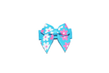 Bright Blue White Pink Flowers Baby Snap Clip - Dream Lily Designs