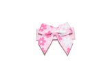 Pink and White Flowers Baby Snap Clip - Dream Lily Designs