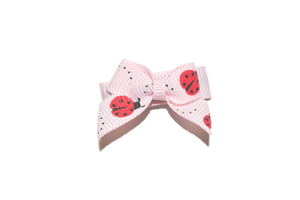 Pink Ladybug Baby Snap Clip