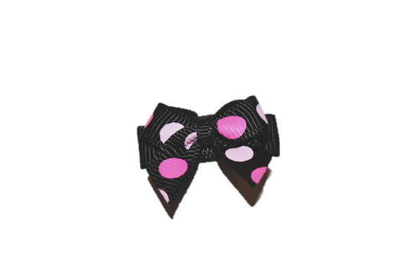 Light Pink Black and Pink Large Polka Dot Baby Snap Clip - Dream Lily Designs