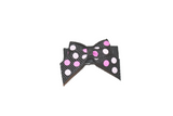 Light Pink Black and Pink Small Polka Dot Baby Snap Clip