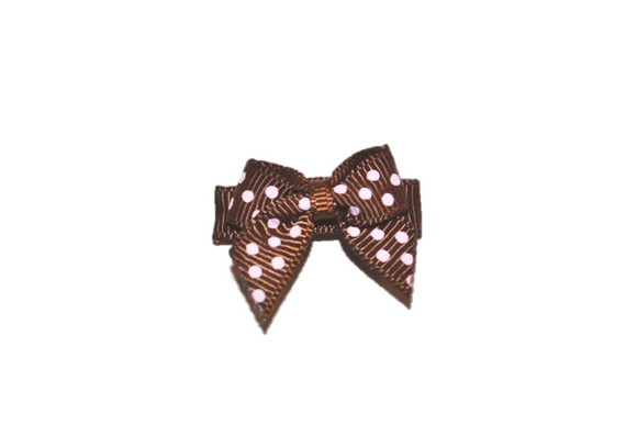 Brown Pink Polka Dot Baby Snap Clip - Dream Lily Designs