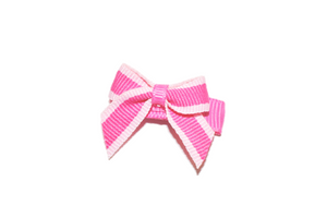 Hot Pink and Light Pink Border Baby Snap Clip