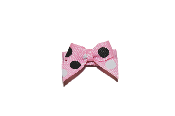Pink Black White Polka Dot Baby Snap Clip - Dream Lily Designs