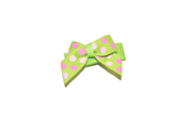 Lime Green and Pink Polka Dot Baby Snap Clip - Dream Lily Designs