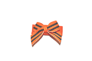 Orange and Black Stripes Baby Snap Clip
