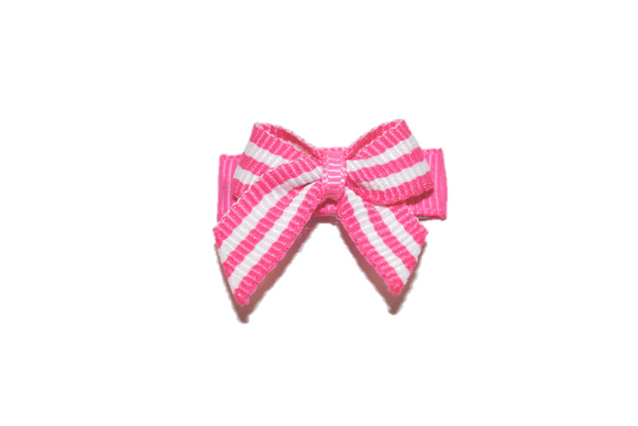 Pink and Light Pink Stripes Baby Snap Clip