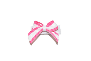White and Pink Border Baby Snap Clip