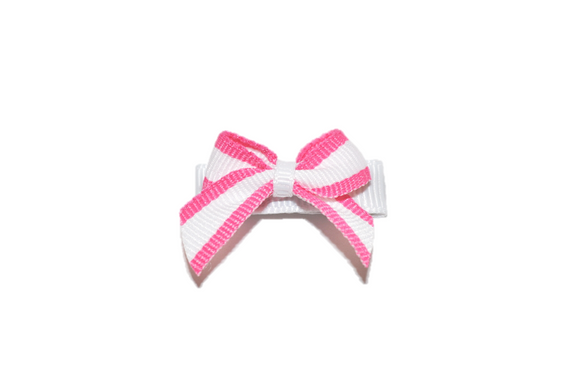White and Pink Border Baby Snap Clip - Dream Lily Designs