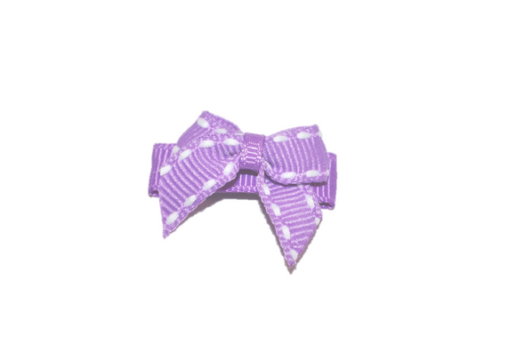 Purple White Stiching Baby Snap Clip