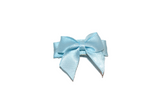 Light Blue Satin Baby Snap Clip - Dream Lily Designs