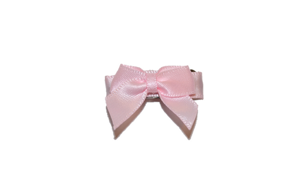 Light Pink Satin Baby Snap Clip