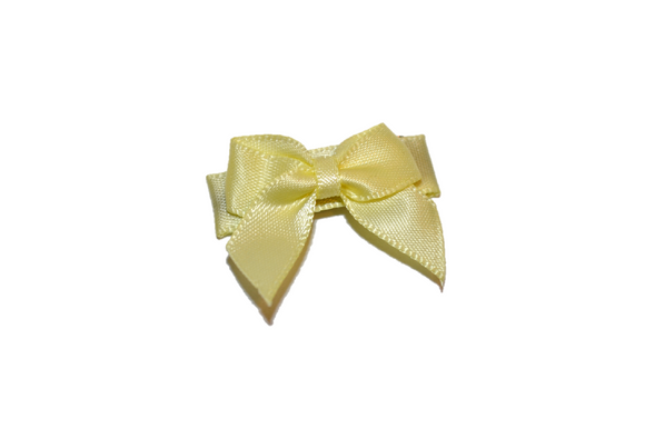 Yellow Satin Baby Snap Clip