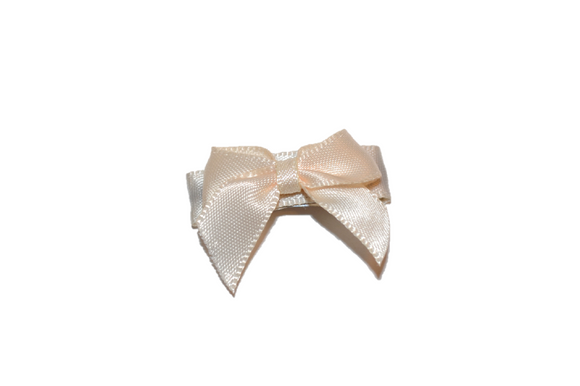 Cream Satin Baby Snap Clip - Dream Lily Designs