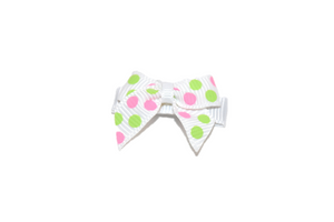 White Pink Green Polka Dots Baby Snap Clip - Dream Lily Designs