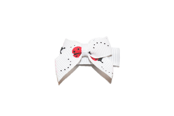 White Ladybug Baby Snap Clip - Dream Lily Designs