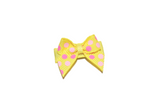 Yellow Pink Polka Dot Baby Snap Clip - Dream Lily Designs