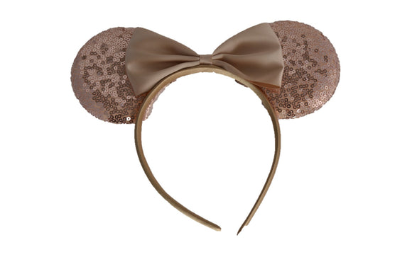Rose Gold Minnie Mouse Deluxe Sequin Headband - Dream Lily Designs