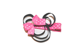 Minnie Mouse Ribbon Sculpture Hair Clip - Minnie with Bubblegum Pink Bow - Dream Lily Designs