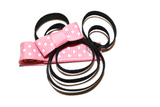 Minnie Mouse Ribbon Sculpture Hair Clip - Minnie with Light Pink Bow - Dream Lily Designs