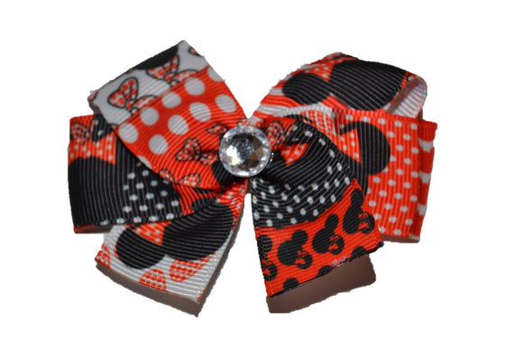 Patterned Red Minnie Bow (Minnie)