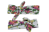 White Floral Mommy and Me Knot Headband - Dream Lily Designs