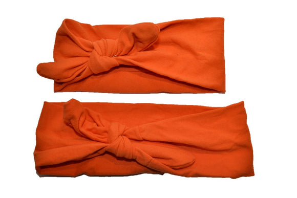 Orange Mommy and Me Knot Headband - Dream Lily Designs