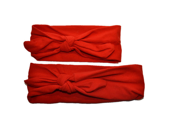 Red Mommy and Me Knot Headband - Dream Lily Designs