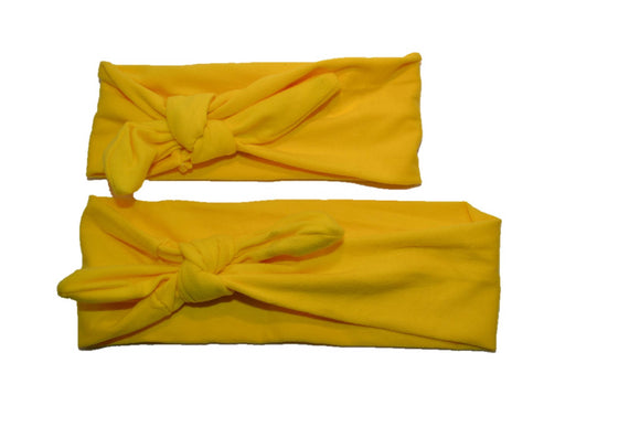 Yellow Mommy and Me Knot Headband - Dream Lily Designs