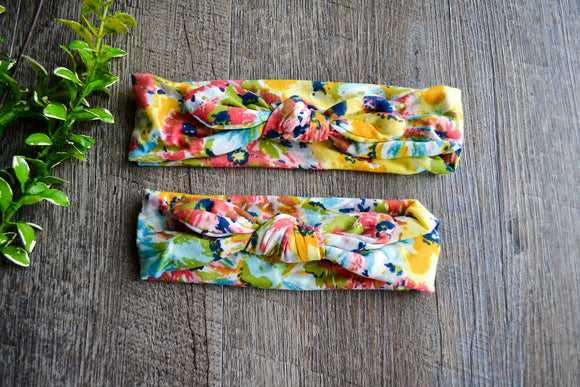 Bright Tropical Colors Mommy and Me Knot Headband - Dream Lily Designs