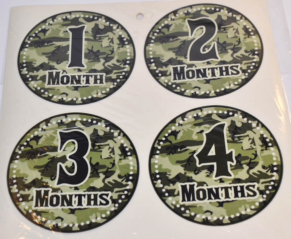 Milestone Stickers - Camo - Dream Lily Designs
