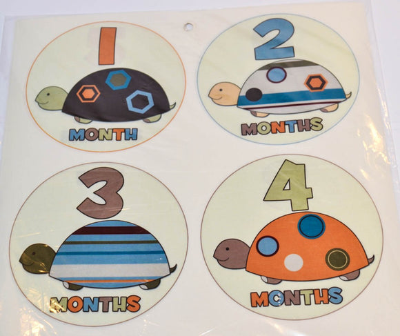 Milestone Stickers - Turtles - Dream Lily Designs