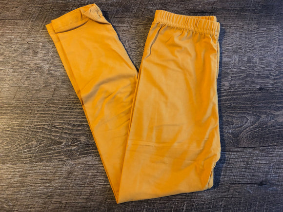 Girls Kids Ultra Soft Leggings - Legging Depot Brand - Ankle Length - School or Play - Mustard Yellow - Dream Lily Designs