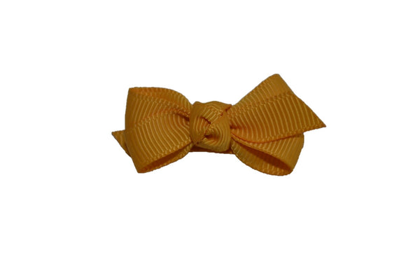 Knot Baby Snap Clip - Mustard Yellow - Dream Lily Designs